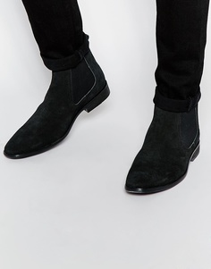 Замшевые ботинки челси Base London - Черный