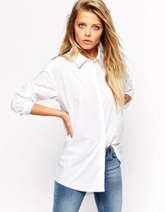 Строгая белая рубашка бойфренда ASOS - Белый