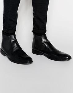 Кожаные ботинки челси Base London - Черный