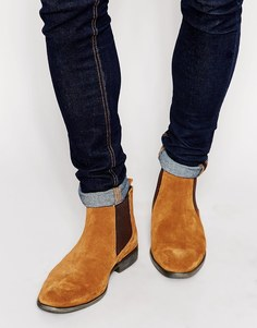 Замшевые ботинки челси Base London - Бежевый
