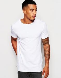 Эластичная облегающая футболка с круглым вырезом ASOS - Белый