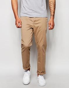 Прямые брюки чиносы ASOS - Stone