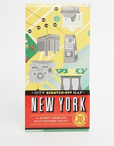 Книга City Scratch Off Map New York - Мульти Gifts