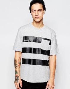 Футболка с карманом adidas Originals AB7840 - Серый меланж
