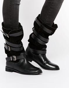 Замшевые сапоги ASOS CANDID - Черный