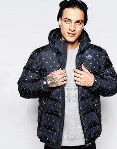 Куртка-пуховик adidas Originals AB7808 - Черный