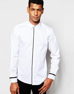 Рубашка слим с планкой на пуговицах Antony Morato - Белый