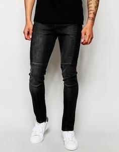 Черные байкерские джинсы Systvm - Черный