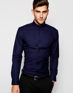 Рубашка зауженного кроя Selected Homme - Темно-синий