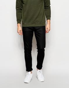 Черные джинсы скинни из итальянского денима Selected Homme - Черный