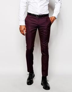 Эксклюзивные зауженные брюки Selected Homme - Burgundy