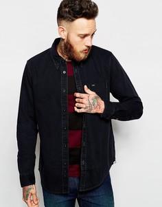 Черная джинсовая рубашка на пуговицах с карманом Lee - Выбеленный черный
