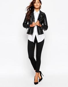 Эластичные укороченные брюки скинни ASOS - Черный