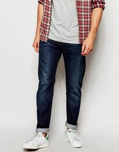 Суженные книзу джинсы цвета индиго Edwin Jeans ED-80 - Темный использованный
