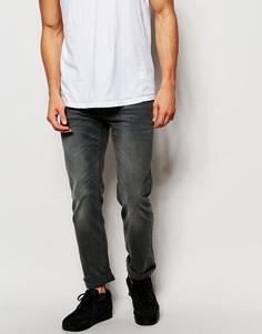 Черные выбеленные джинсы слим с заниженной талией Lee Powell Lead - Графит