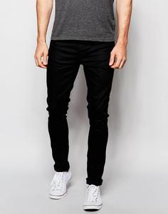 Черные супероблегающие джинсы Nudie Jeans Pipe Led - Clean Slate (Чистый лист)