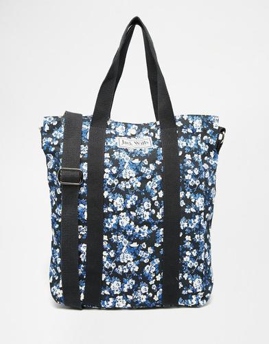 Парусиновая сумка‑шоппер с пестрым цветочным принтом Jack Wills - Темно-синий пестрый