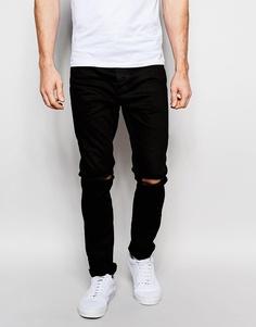 Рваные джинсы скинни Brave Soul - Черный