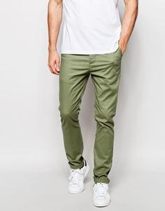 Светлые зауженные брюки цвета хаки ASOS - Sea spray