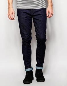 Темно-синие супероблегающие джинсы Nudie Jeans Pipe Led - Темно-синий