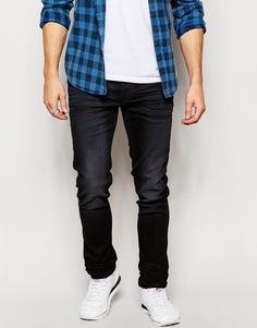 Эластичные черные джинсы слим Blend - Черный