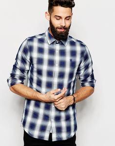Рубашка в клетку G-Star Rivo Victor - Имперский синий