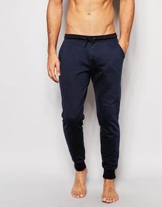 Темно-синий зауженные штаны для дома ASOS