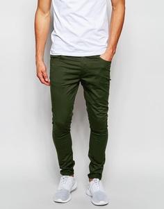 Супероблегающие брюки цвета хаки ASOS - Forest night