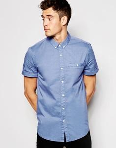 Поплиновая рубашка с короткими рукавами Jack Wills - Синий
