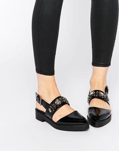Туфли на плоской подошве ASOS MERRY - Черный