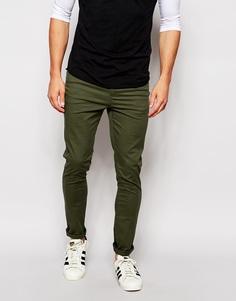 Супероблегающие брюки цвета темный хаки ASOS - Forest night