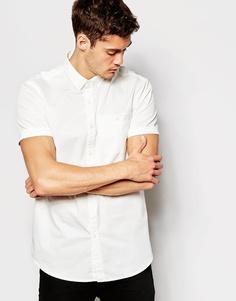 Поплиновая рубашка с короткими рукавами Jack Wills - Белый