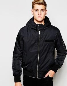 Нейлоновая куртка-пилот с капюшоном Cheap Monday - Черный