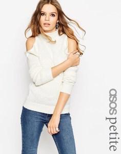 Джемпер с открытыми плечами ASOS PETITE - Кремовый