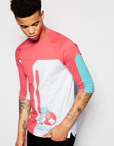 Футболка с рукавами 3/4 и принтом Pink Dolphin - Белый