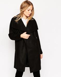 Пальто в стиле оversizе с воротником-трубой ASOS - Черный