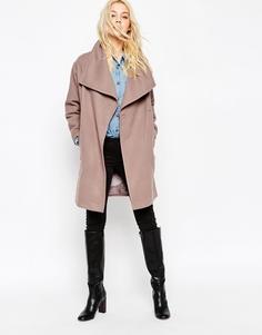 Пальто с большим воротником-трубой ASOS - Mink