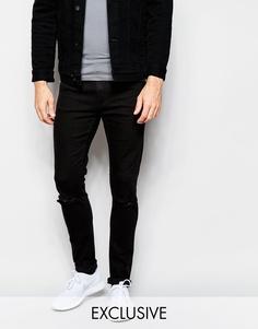 Черные джинсы скинни с прорехами на коленях эксклюзивно для Cheap Monday - New black