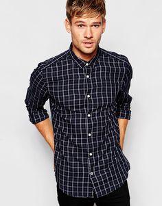Рубашка в клетку Esprit - Темно-серый