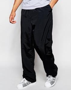 Нейлоновые брюки с шнурком Weekday Airwalk - Черный