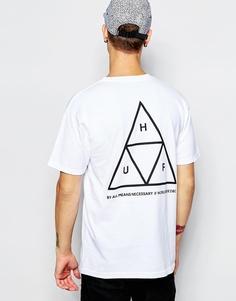Футболка с тремя треугольниками HUF - Белый