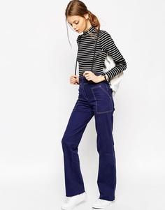 Широкие брюки в стиле 90‑х с необработанным краем ASOS - Темно-синий
