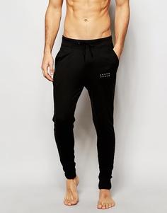 Зауженные штаны для бега с манжетами Jack & Jones - Черный