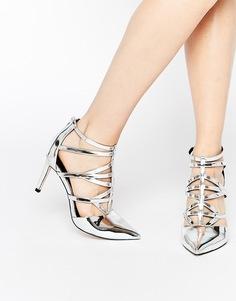 Туфли на каблуке с ремешками ASOS SYNC - Серебряный