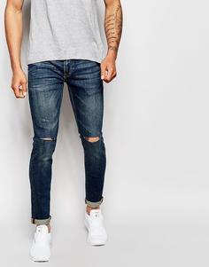 Выбеленные джинсы Izzue - Темно-синий