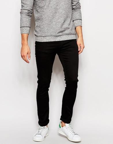Черные супероблегающие джинсы Zee Gee Why - Черный