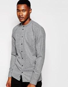 Рубашка с воротником на пуговице Minimum - Серый