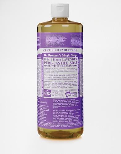 Органическое кастильское жидкое мыло с ароматом лаванды Dr. Bronner, 946 мл - Лаванда