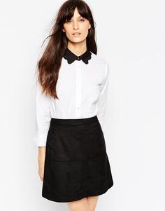 Рубашка с контрастным воротником ASOS Scallop - Белый