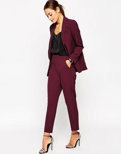 Приталенные брюки премиум-класса ASOS - Wine